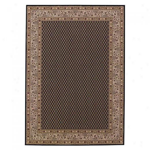 Capel Rugs Satin - Mir 8 X 12 Black Area Rugs
