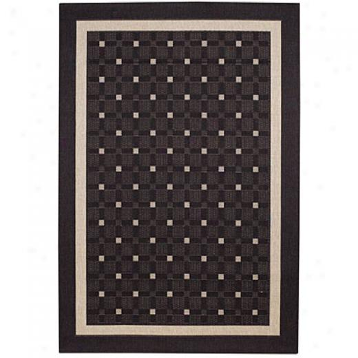 Capel Rugs Seabreeze - Checks 5x8 Charcoal Area Rugs