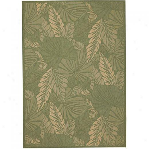 Capel Rugs Seabreeze - Palms 3x5 Spruce Area Rugs