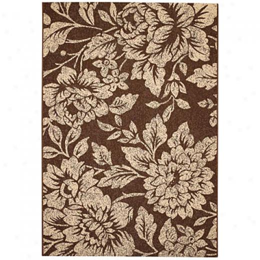 Capel Rugs Seabreeze - Petals 3 X 5 Chocolate Area Rugs