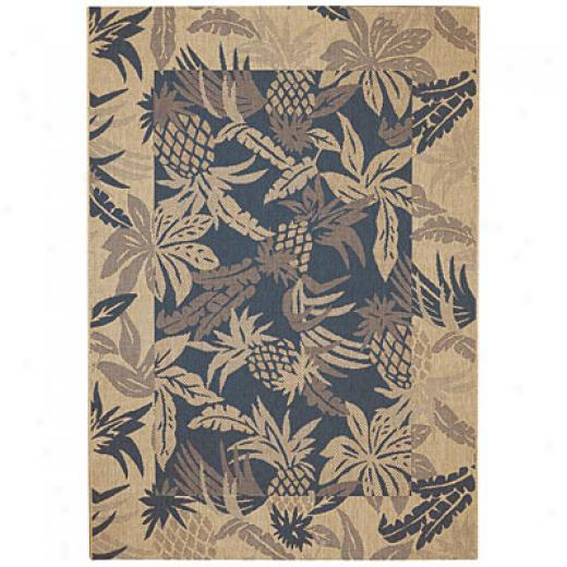 Capel Rugs Seabreeze - Pineapple 5 X 8 Demin Area Rugs