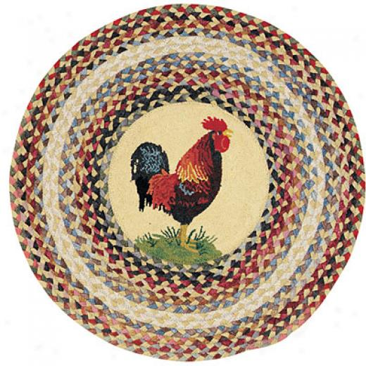 Capel Rugs Somewhere In Time 5 Ft Round Ella Rooster Area Rugs