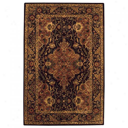 Capel Rugs St.. Tropez - Royal Medallion 2 X 3 Mahogany Area Rugs