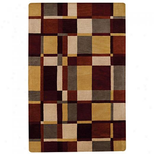 Capel Rugs Tempo 7 X 9 Crimsongold Area Rugs