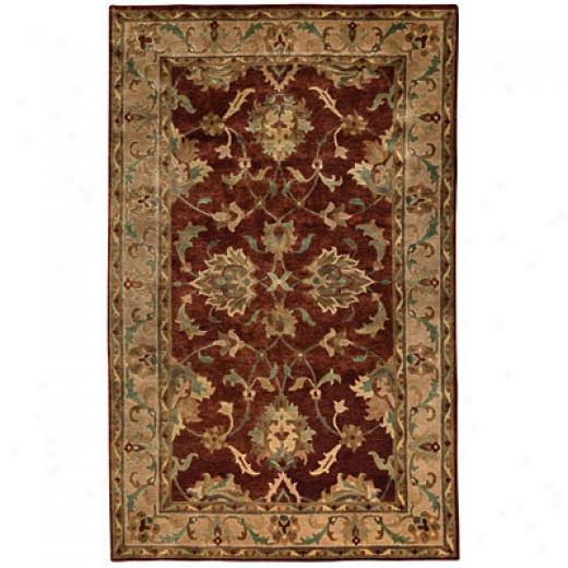 Capel Rugs Tibetan Treasures 4 X 5 Persimmon Area Rugs