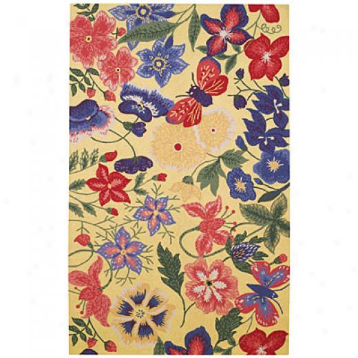 Capel Rugs Tropicale 7 X 9 Flowers Area Rugs