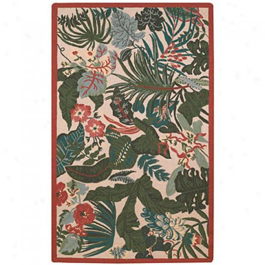Capel Rugs Tropicale 8x11 Leaves Area Rugs