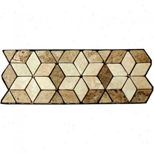 Caribe Stone Decorativ3 Borders - Travertine Angie Tile & Stoe