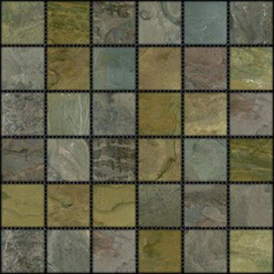 Caribe Stone India Tumbled Slate Mosaic Sandoewood Tile & Stone