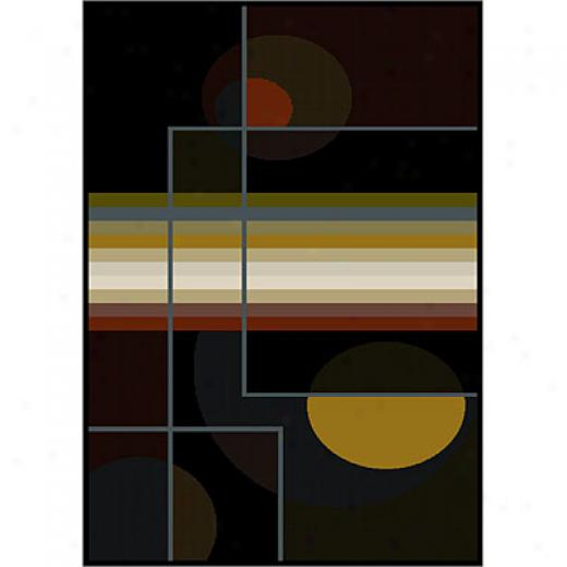 Carpet Art Deco Expressions Ii 4 X 5 Accents/midnight Area Rugs