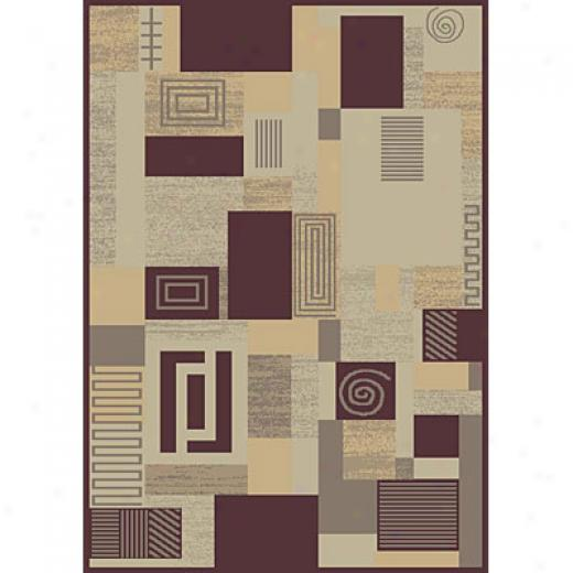 Carpet Art Deco Fantasy 2 X 6 Lite/purper-whisperA rea Rugs