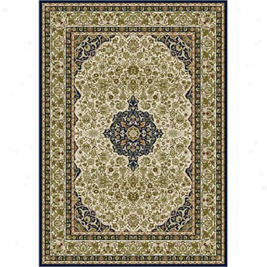 Carpet Art Deco Heritage 8 X 10 Kashan/pur-indigo Area Rugs