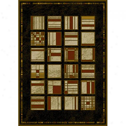 Carpet Art Deco Natural 5 X 8 Utopie/midnight Area Rugs