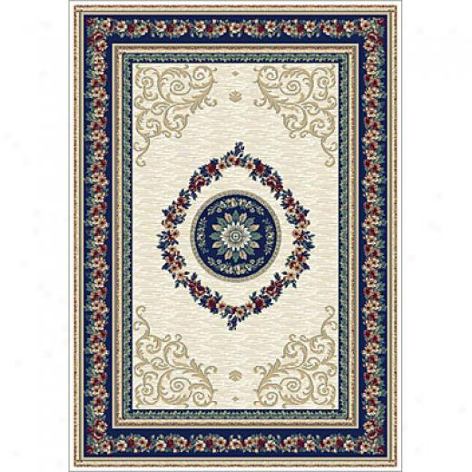 Carpet Art Deco Primavera 2 X 6 Organza/prussian-blue Camel Superficial contents Rugs