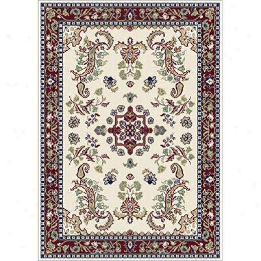 Carpet Art Deco Primavera 4 X 5 Boteh/camel-port Wine Area Rugs