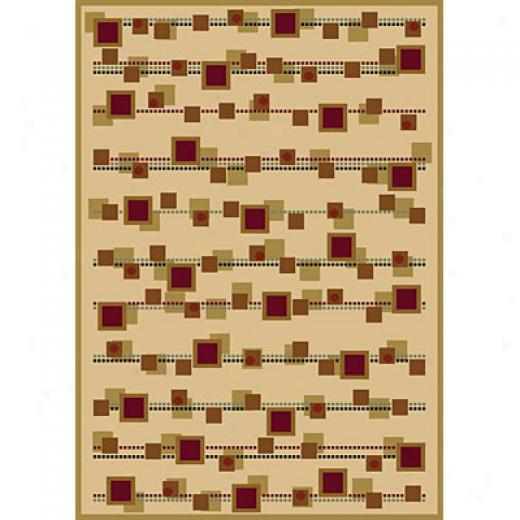 Carpet Art Deco Sunset 2 X 3 Myrades/sesame-cream Area Rugs