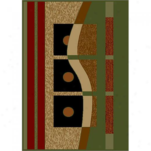 Carpet Art Deco Sunset 5 X 8 Aera/lichen Area Rugs