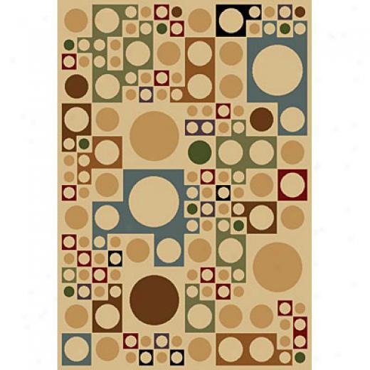 Carpet Art Deco Sunset 5 X 8 Ido/beige Area Rugs