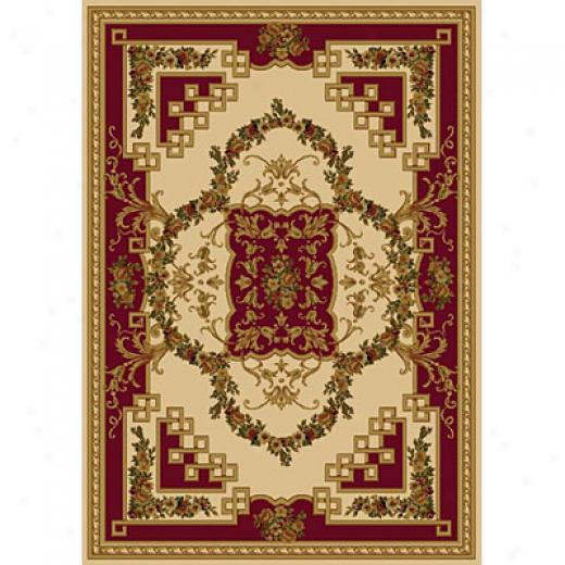 Carpet Art Deco Vintage 8 X 10 Europa/blackcurrent-cream Area Rugs
