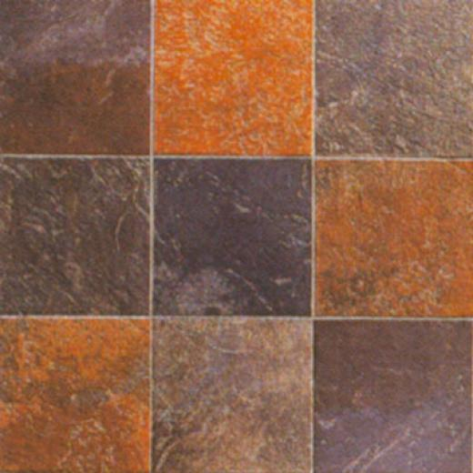 Casa Dolce Casa Flagstone 5 X 5 Green Tile & Stone