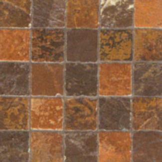 Casa Dolce Cawa Flagstone Mosaic 2 X 2 Black Tile & Stone