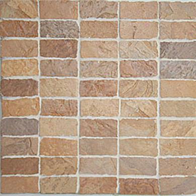 Casa oDlce Casa Flagstone Mosaic 1 X 2 Beige Tile & Stone