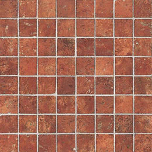 Casa Italia Cotto Mediterraneo Mosaic 1-3/8 X 1-3/8 (12 X 12) Mosaico Rosso Cm3mrs