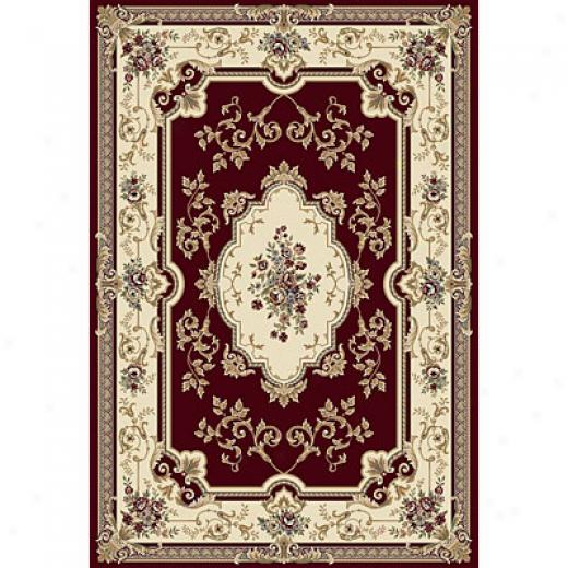 Central Oriental Bouquet 8 X 11 Bouquet Red Area Rugs
