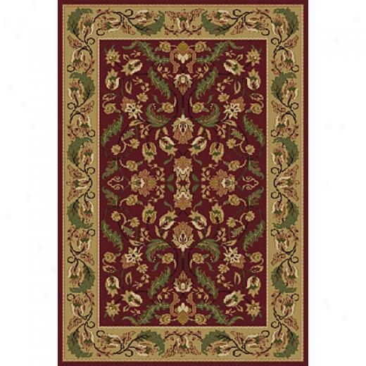 Central Oriental Canyon - Gariand 7 X 11 Garland Red Area Rugs