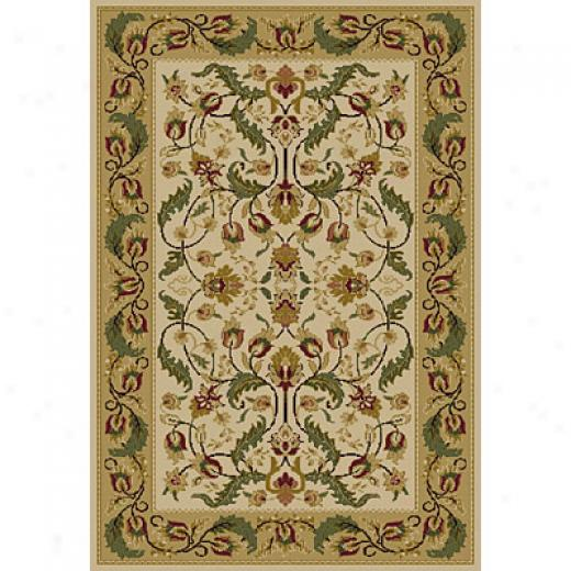 Central Oriental Canyon - Wreath 2 X 5 Canyon Garland Beige Area Rugs