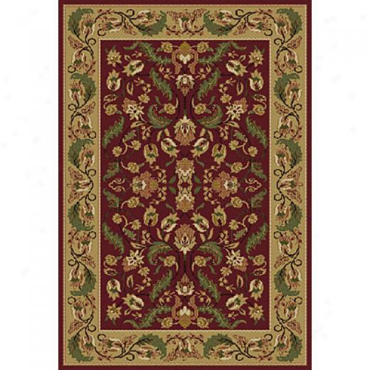 Central Oriental Canyon - Garland 2 X 5 Canyon Garland Red Area Rugs