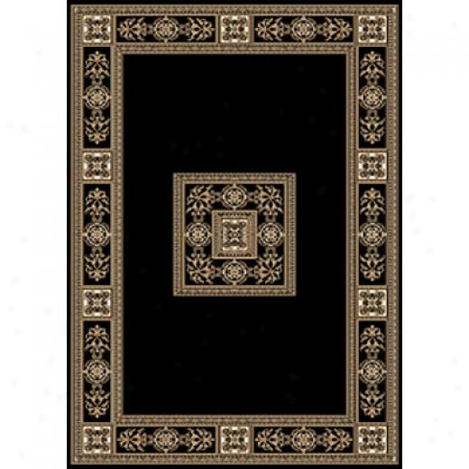 Central Oriental Chateau 4 X 6 Chateuax Black Area Rugs