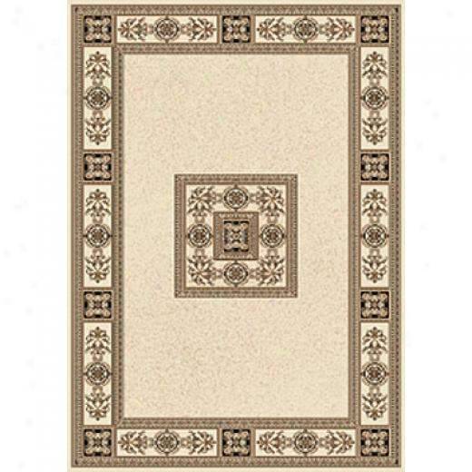 Central Oriental Chateau 4 X 6 Chateuax Ivory Area Rugs