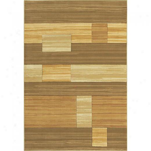 Central Oriental Images - Striation 5 X 8 Striation Tan Area Rugs
