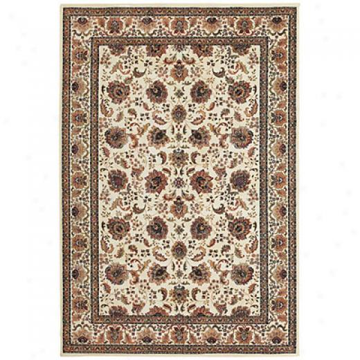 Central Oriental Regency 7 X 10 Oval Regency Ivory Area Rugs