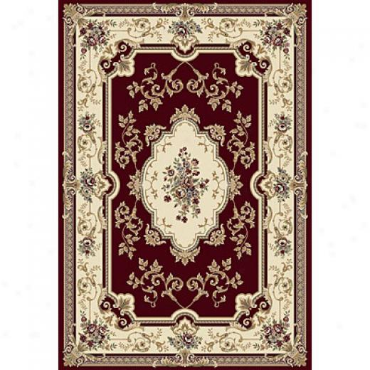 Central Oriental Royal - Bouquet 3 X 5 Bouquet Red Superficial contents Rugs