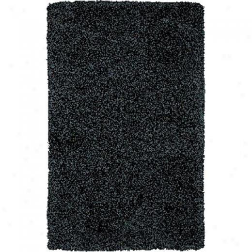 Central Oriental Shaggy 5 X 8 Shaggy Black Area Rugs