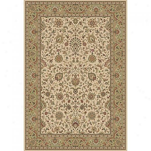 Central Oriental Traditions Isphahan 5 X 8 Isphahan Classic Ivory/green Area Rugs