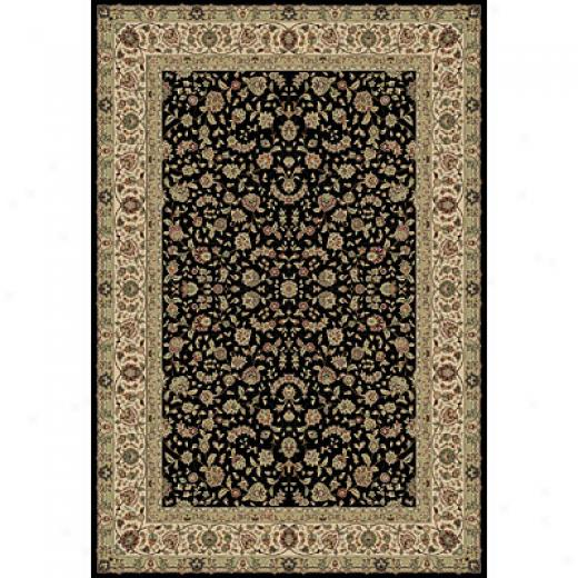 Central Oriental Traditions - Tabriz 8 X 10 Tabriz Elegant Black Area Rugs