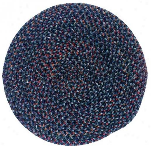 Colonial Mulls, Inc. Midnight 6 X 6 Round Indigo Area Rugs