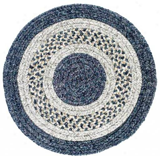 Colonial Mills, Inc. Monroe 4 X 4 R0und Dreft Blue Area Rugs