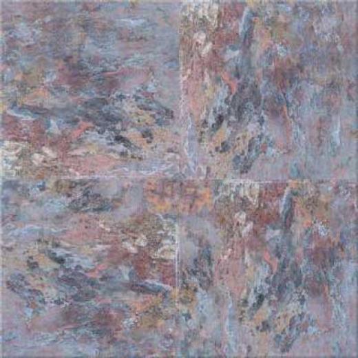 Congoleum Durastone - American Slate Natural Gray Vinyl Flooring