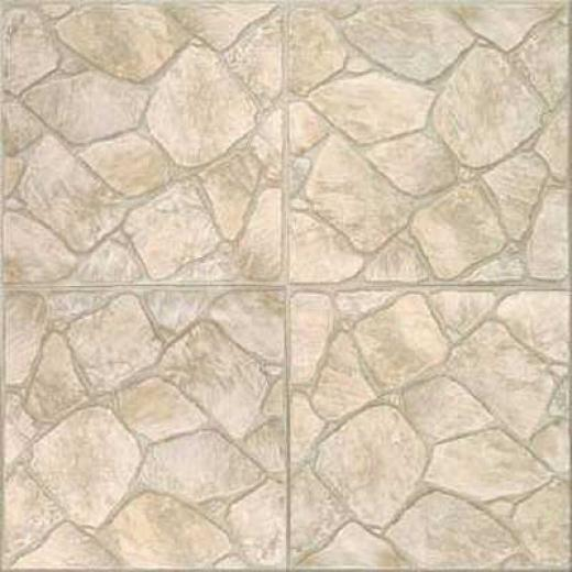 Congoleum Durastone - Rock Garden Ocean Coral Vinyl Flooring