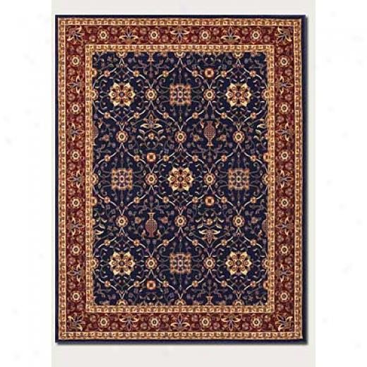 Couristan Anatolia 5 X 8 All Over Vase Navy Red Area Rugs
