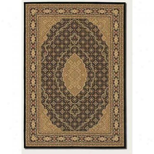 Couristan Chanterelle 2 X 8 Runner Antique Lavar Kerman Black Area Rugs
