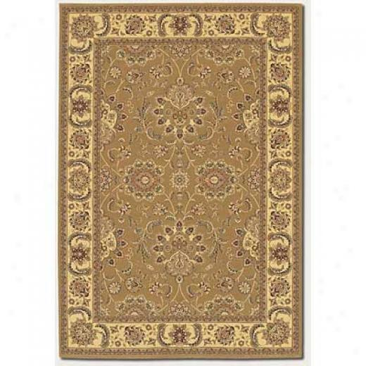 Couristan Chanterelle 4 X 5 Antique Ispaghan Gold Area Rugs