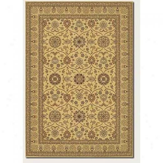 Couristan Chanterelle 6 X 9 Garden Tabriz Antique Creme Yard Rugs