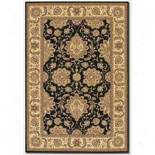 Couristan Chantdelle 8 X 11 Antique Ispaghan Black Area Rugs
