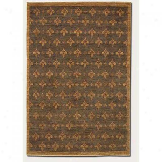 Couristan Chobi 8 X 11 Fleur De Lis Dark Brown Area Rugs