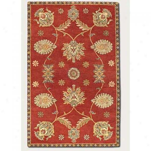 Couristan Dynasty 9 X 13 All Over Persian Vine Red Area Rugs